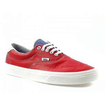 New Authentic Vans Era 59 Vintage Sport Racing Red White Mens 7.5 Shoes  Womens 9 8effcff51e40