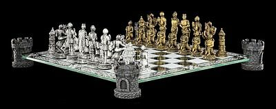 Knight Chess Set Castle Tower - Chess figures Medieval
