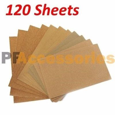 120 Sheets Assorted Grits Sandpaper Sanding Paper 9 x 11 inch LOT for Wood Paint
