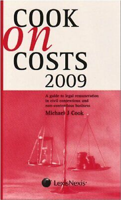 Cook on Costs 2009 by Cook, Michael J. Paperback Book The Cheap Fast Free Post