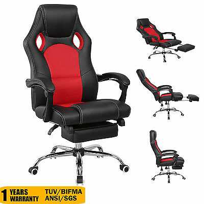 Racing Office Chair High Back Gaming Car Style Executive Reclining Bucket Seat
