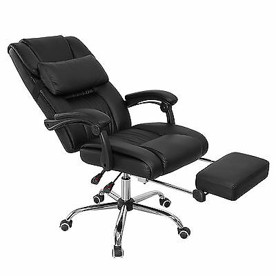 Ergonomic Relax Office Chair Leather High Back Computer Desk Executive Recliner
