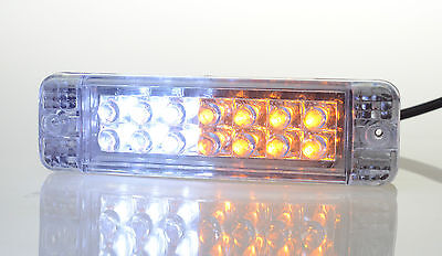 ARB Bullbar LED Indicators - PAIR - Signals & DRL or Park light lamps. 135x38mm
