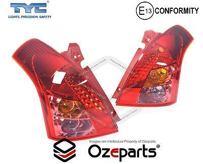 Set Pair LH+RH Tail Light Lamp For Suzuki Swift Hatch EZC21 RS415 S2 2007~2010
