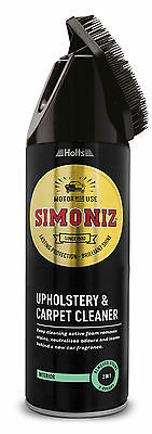 Simoniz Upholstery And Carpet Seat Stairs Stain Cleaner And Brush 400ml