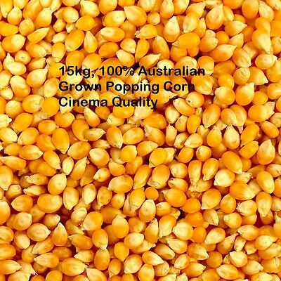 15kg Bulk Popping Corn Kernels, Australian Grown Premium  Cinema Quality