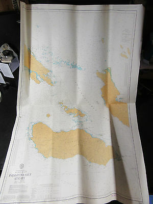 "SOUTH PACIFIC Solomon Islands INDISPENSABLE STRAIT NAVIGATION CHART 28"" x 41"""