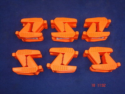 6 x Pairs of Spear & Jackson Bricklayer's Line Block Rubber Shaped Brick Orange