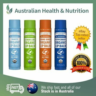 Dr Bronner's Organic Lip Balm - All 4 Varieties - All Natural + Free Shipping