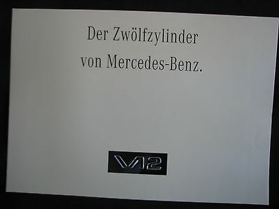 Brochure Mercedes-Benz V12 1992 Large Version (Deutsch) (JS)