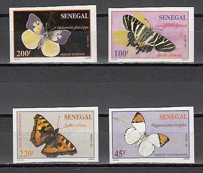 """ Senegal, Scott cat. 1187-1190. Butterflies, IMPERF issue."