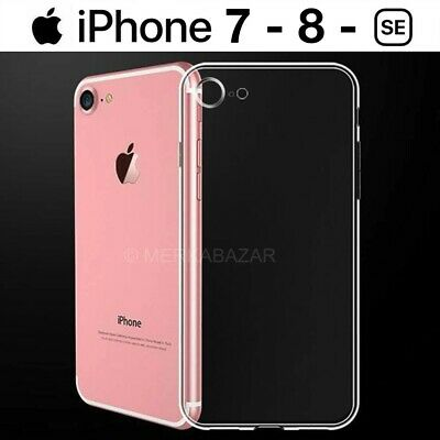 FUNDA SILICONA GEL TPU ULTRAFINA TRANSPARENTE PARA iPHONE 7 / 8 / SE 2020 / PLUS