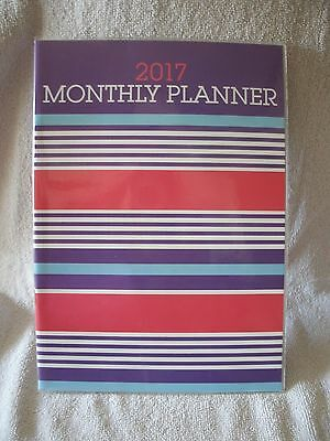 2017 Stripes Monthly Planner