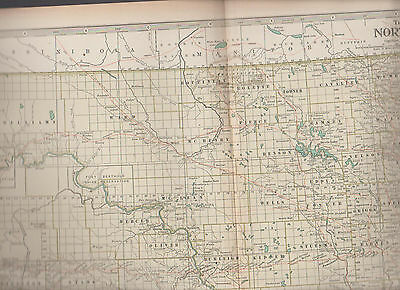 North Dakota Century Atlas 1897 Antique Map #26 11 3/4 x 16