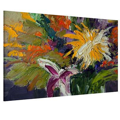 Lily Daisy Abstract Wall Art Unframed Print Canvas Picture Painting Flower Decor
