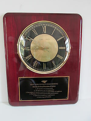 Amtrak New York Division Clock with Engineering Safety Principle Plaque