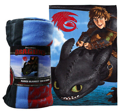 Dreamworks Dragons Seascape Fleece Blanket Manta Polar Bedroom Bed Throw Over