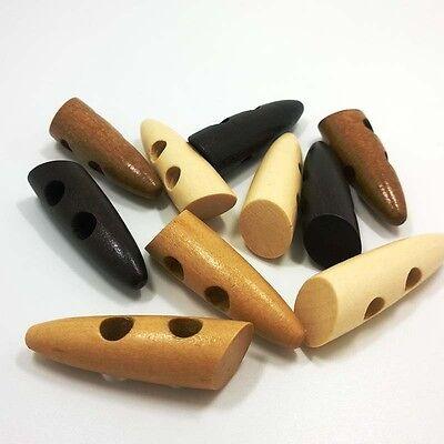 Wholesale Overcoat Coat Wood Ox Horn Buttons 2 Holes For Craft Sewing 46mm