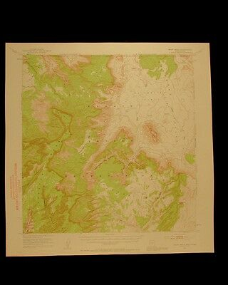 Boot Mesa Arizona Utah vintage 1957 original USGS Topographical chart