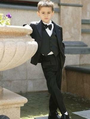 Boys Children Kid's Wedding Formal Groom Tuxedos Evening Party Suits Custom Made