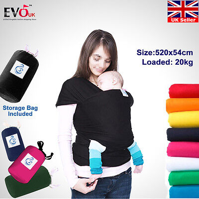 Baby Sling Stretchy Adjustable Wrap Carrier Breastfeeding Pouch Birth to 3YRS