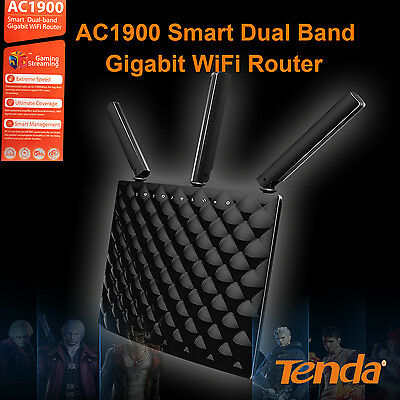 Tenda AC1900 Smart Dual-band Gigabit WiFi Router Ready NBN  Faster Speed