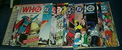 who's who in the dc universe 1-10 & 14 loose leaf binder edition superman batman