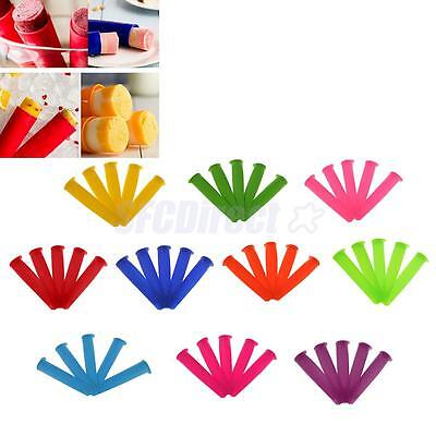 5pcs Ice Cream Maker Silicone Popsicle Pudding DIY Mold Kitchen Supply Accessory