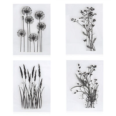 New Flower Plants Transparent Silicone Rubber Stamps Scrapbook Crafts Cardmaking