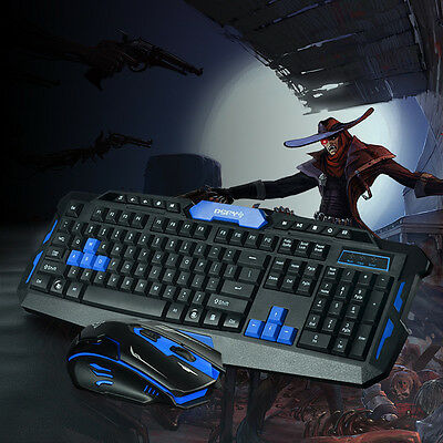 Wireless USB 2.0/3.0 Gaming Keyboard and Mouse set 2.4GHz f/ PC Laptop Windows10