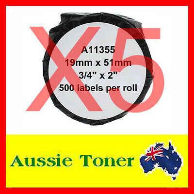 5x Compatible Label Roll For Dymo LW 11355 SD11355 19mm x 51mm Labelwriter 450