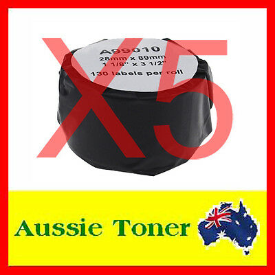 5x Compatible Label Roll For Dymo LW 99010 SD99010 28mm x 89mm Labelwriter 450
