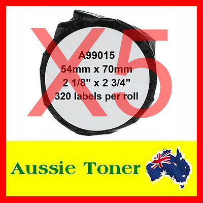 5x Compatible Label Roll For Dymo LW 99015 SD99015 54mm x 70mm Labelwriter 450