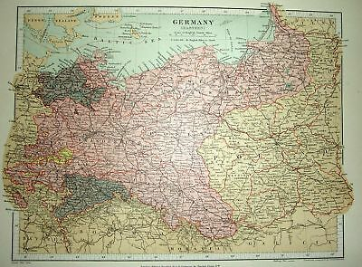 Stanford's 1892 Map Of Germany (Eastern)