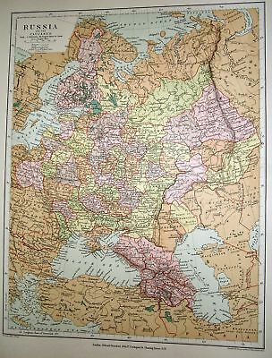 Stanford's 1892 Map Of Russia And The Caucasus