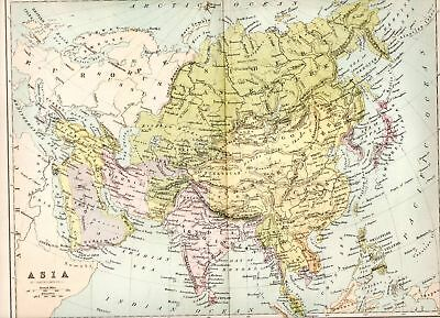 1874 Victorian Map ~  Asia