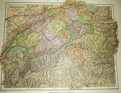 Stanford's 1892 Map Of Switzerland