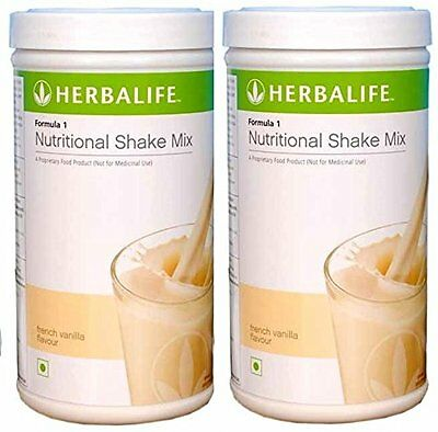 Herbal Life Herbalife Formula 1 Shake 500g Weight Loss - Vanilla Pack of 2