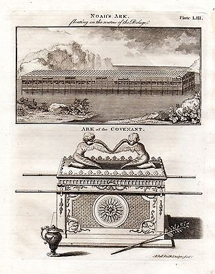 1797 PRINT ~  NOAH'S ARK & ARK of the COVENANT + FASCINATING DESCRIPTIVE TEXT