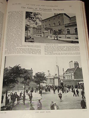 1898 Portsmouth Dockyard Gates Unicorn Marlborough Etc