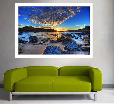 A0 Quality POSTER PRINT dark stormy sea ocean sunrise photograph australia