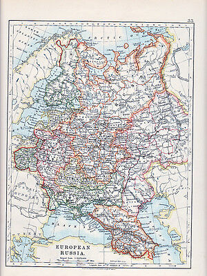 1912 Map ~ European Russia ~ Finland