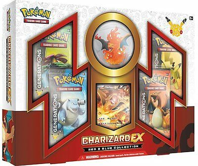 Pokemon TCG Red & Blue Collection Charizard-EX 20th Anniversary New Sealed