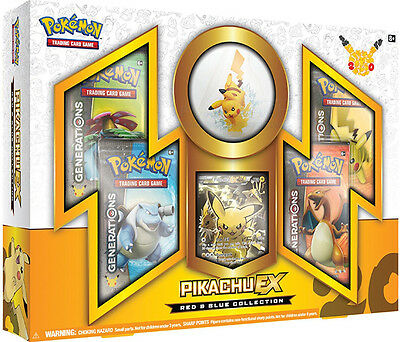 Pokemon TCG Red & Blue Collection Pikachu-EX 20th Anniversary New Sealed