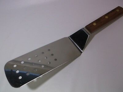 Dexter Russell PS8698 Wood Handle 8x3 Perforate Grill Turn Flipper Factory Secon