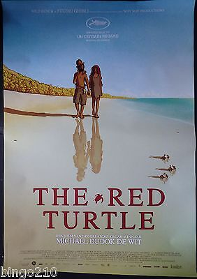 The Red Turtle Original 2016 1 Sheet Poster Studio Ghibli Michael Dudok De Wit