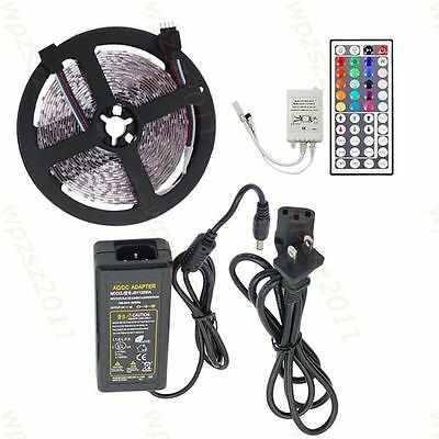3528 5050 RGB Led SMD Flexible Light Strip Lamp 5M Kit + Controller + 5A Power