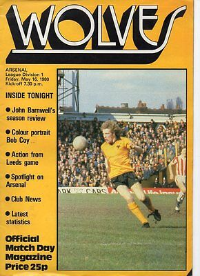 Wolves HOME programmes 1979/80