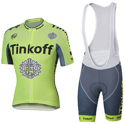 Saxo Bank Tinkoff Breathable Mans Jersey & Bib Cycling Short Set