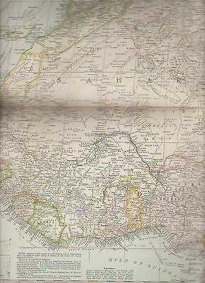 Africa North-West Part Century Atlas 1897 Antique Map #111 11 3/4 x 16